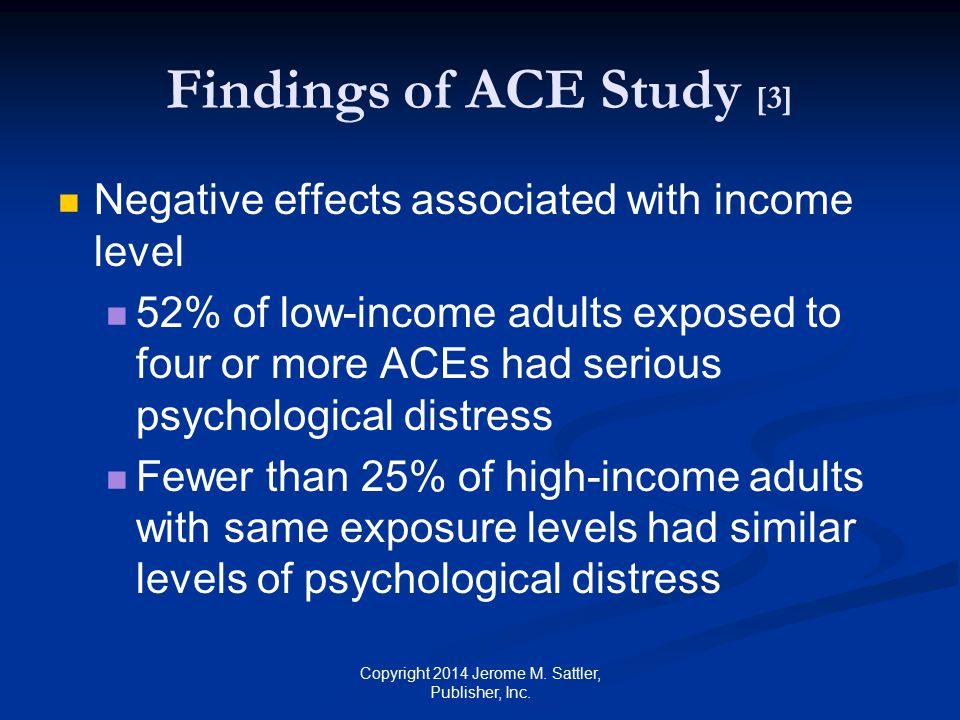 Findings of ACE Study [3]